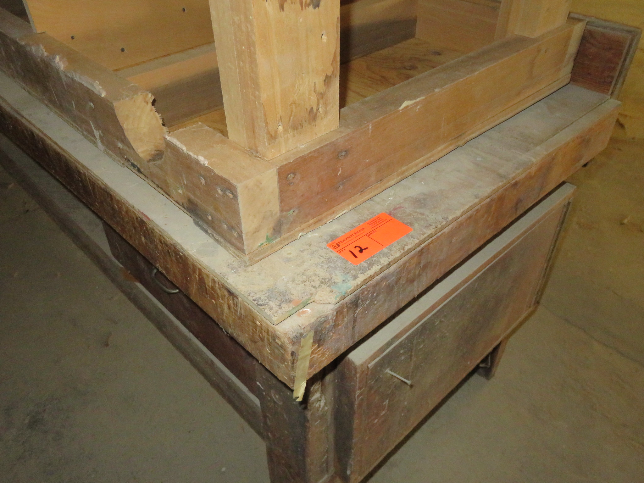 """Heavy Duty Wooden Work Tables Lot of 2 approx 96""""x 35""""x 34"""" & 72""""x 30""""x 35"""" - Image 2 of 2"""
