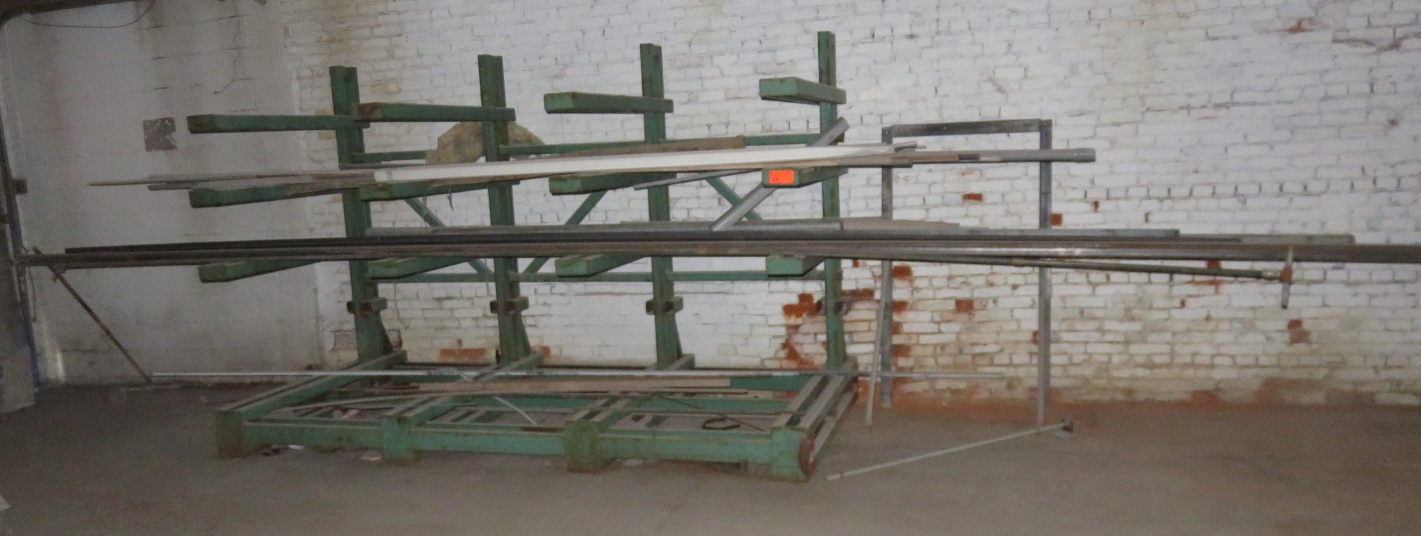 """Heavy Duty Cantilever Racking with Metal Stock Approx.123"""" x 56.5"""" x 82"""""""