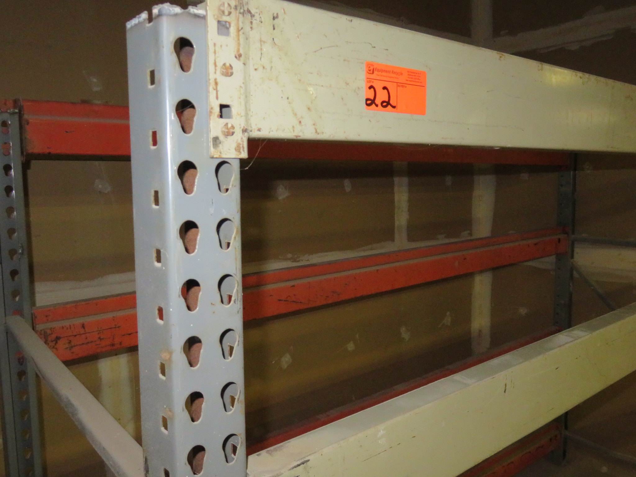 "Warehouse Pallet Racking 1 Section approx 108""x 42""x 72"" - Image 2 of 2"