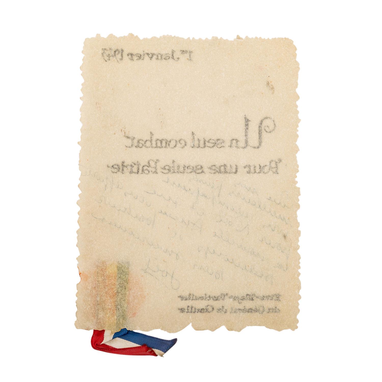 Selten erhaltenes Schriftstück Frankreich 1943 unter General de Gaulle - - Image 4 of 4