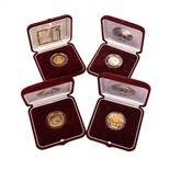 4 x Russland in GOLD -