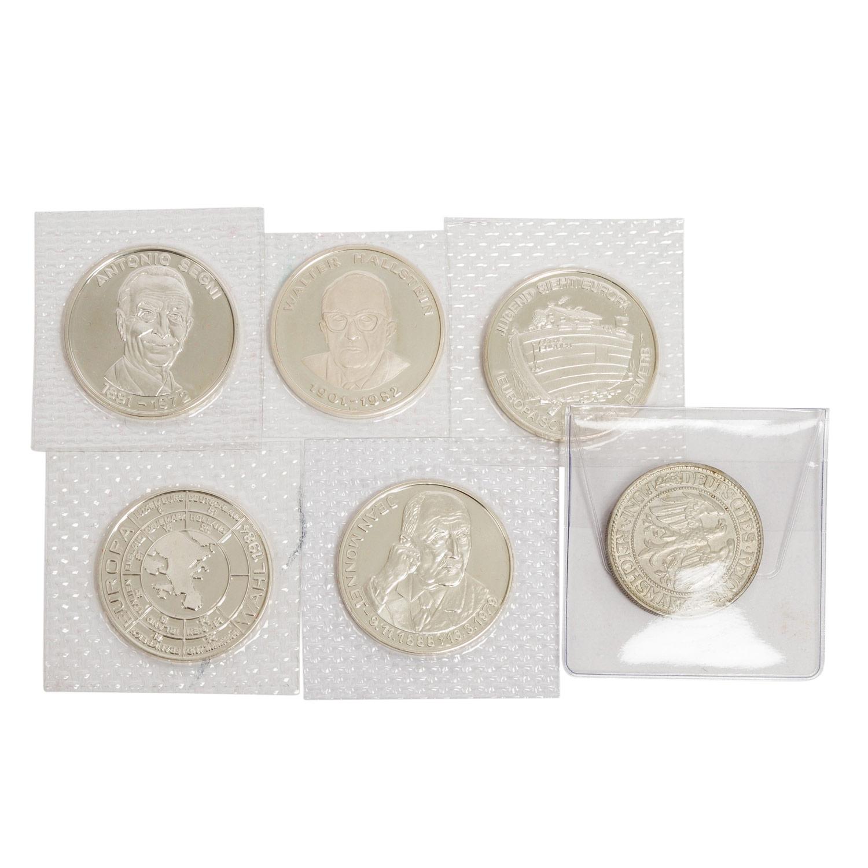 SILBERLOT mit Medaillen und Münzen, - Image 3 of 3