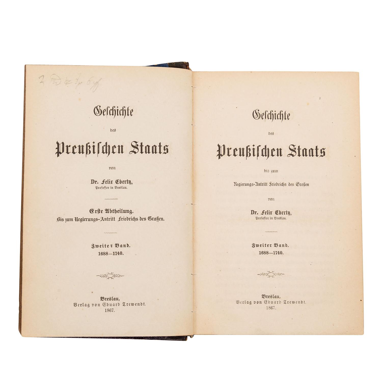 Mit Autograph des Verfassers! Geschichte des Preußischen Staats - Image 2 of 2