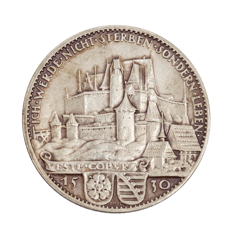 Weimarer Republik - Silbermedaille 1930, von Karl Goetz, - Image 2 of 2