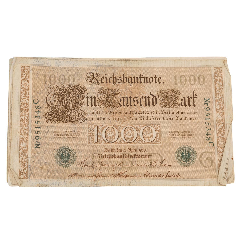 Konvolut historischer deutscher Banknoten - - Image 5 of 5