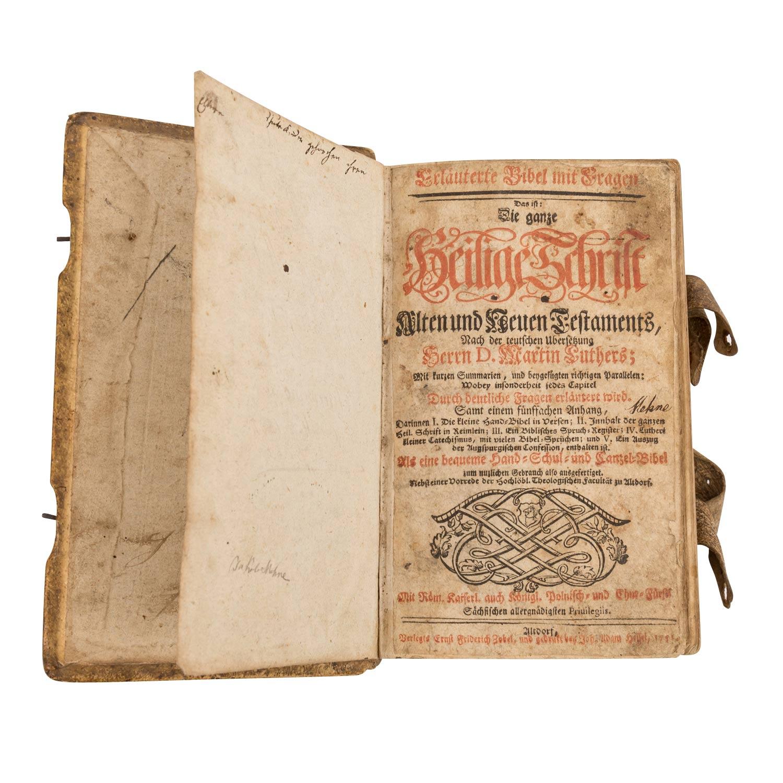 Bibel, Deutschland 18.Jh. - - Image 2 of 3