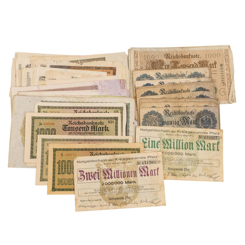 Konvolut historischer deutscher Banknoten -