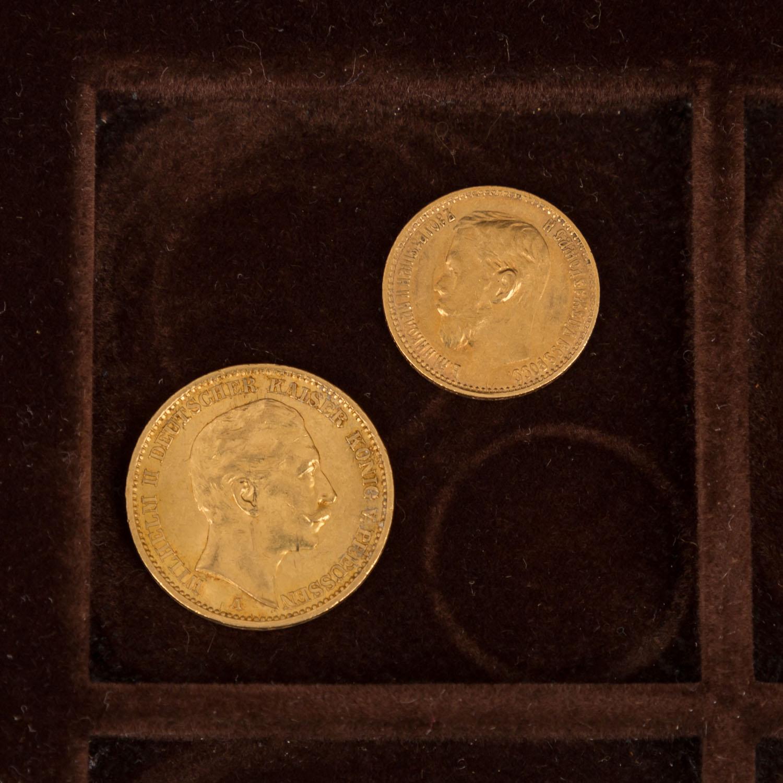 GOLDSCHATZ ca. 83 g fein, Holzkiste bestehend aus - Image 8 of 9