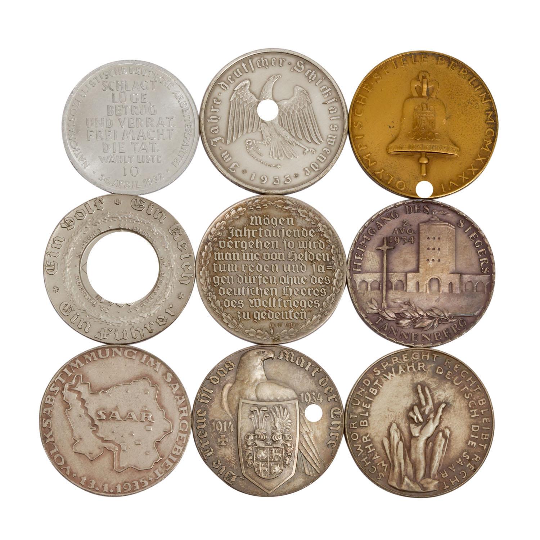 9 Medaillen, Deutschland 1933-1945 - - Image 2 of 2
