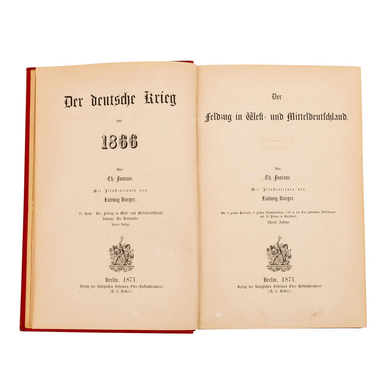 Der Deutsche Krieg von 1866 von Th. Fontane, - Image 2 of 3