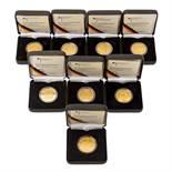 8 x BRD in GOLD -