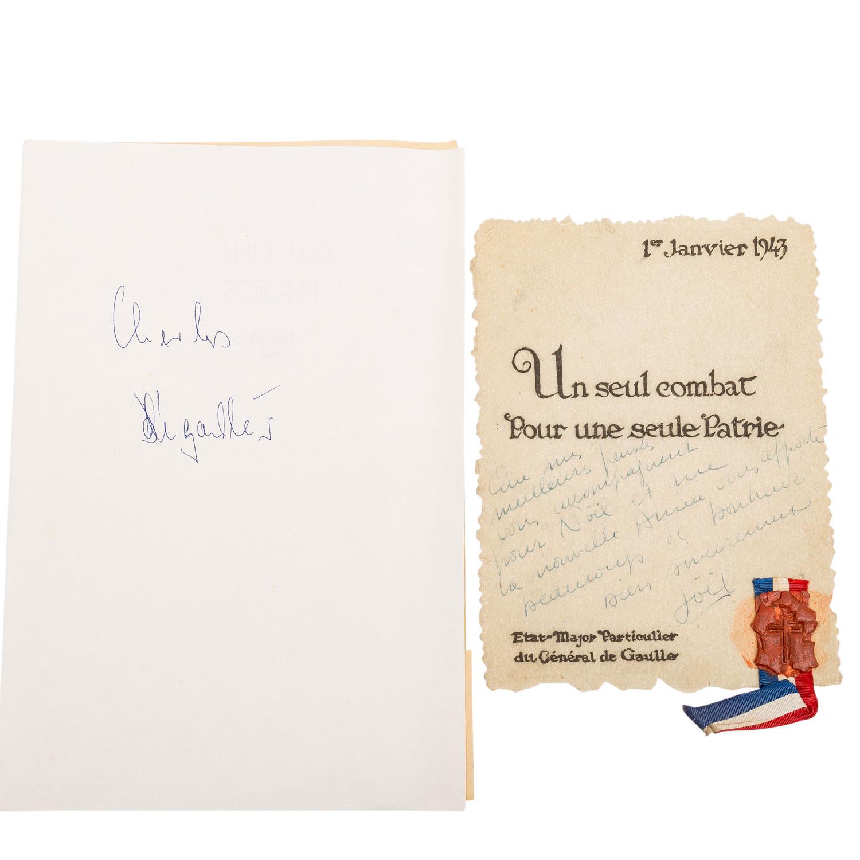 Selten erhaltenes Schriftstück Frankreich 1943 unter General de Gaulle -