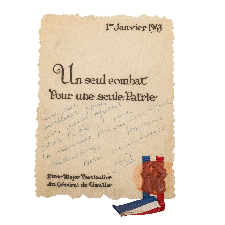 Selten erhaltenes Schriftstück Frankreich 1943 unter General de Gaulle - - Image 2 of 4