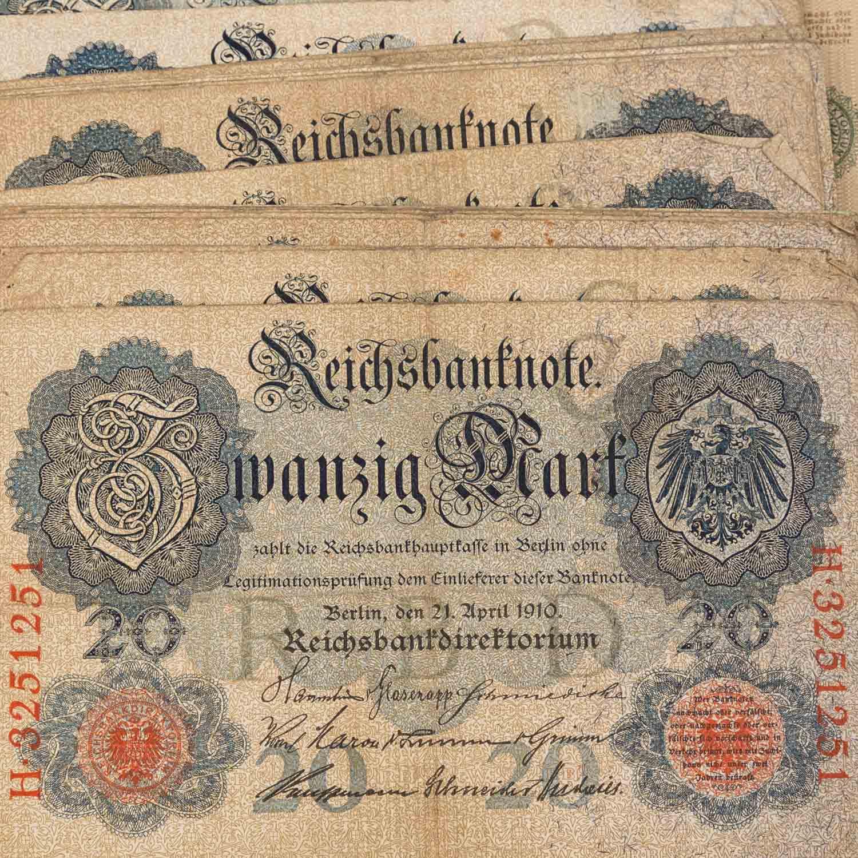 Konvolut historischer deutscher Banknoten - - Image 3 of 5