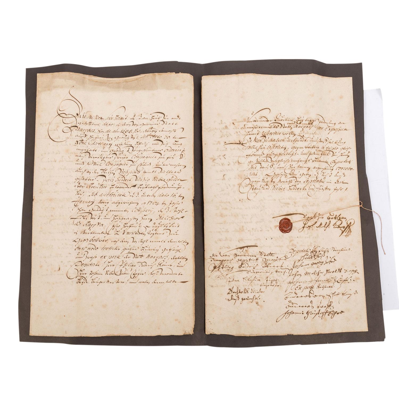 """Württemberg - Urkunde Ende 17./Anfang 18. Jh. """"Vergleichs Recess"""","""