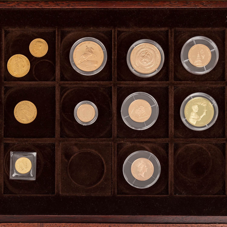 GOLDSCHATZ ca. 83 g fein, Holzkiste bestehend aus - Image 2 of 9