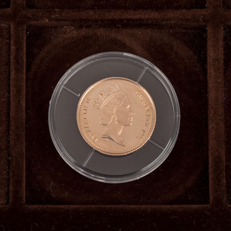 GOLDSCHATZ ca. 83 g fein, Holzkiste bestehend aus - Image 7 of 9