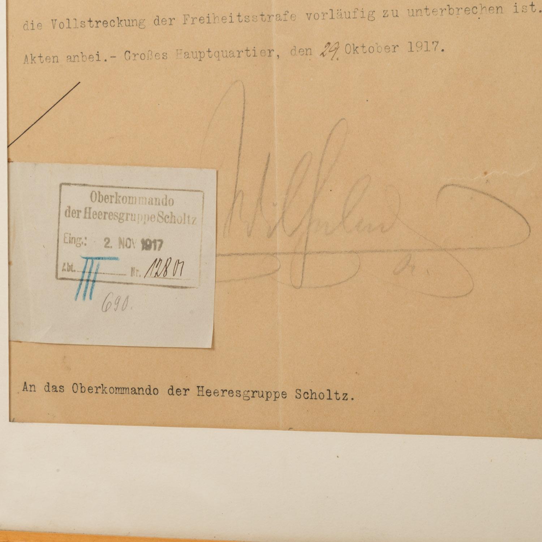 Kaiser Wilhelm II - Typoskript mit Unterschrift - Image 2 of 3