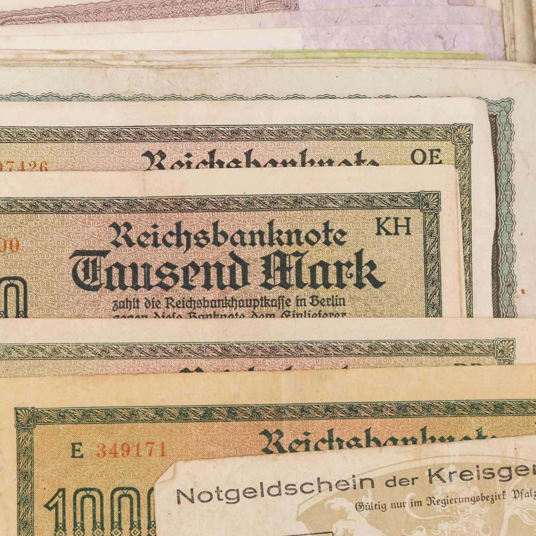 Konvolut historischer deutscher Banknoten - - Image 2 of 5