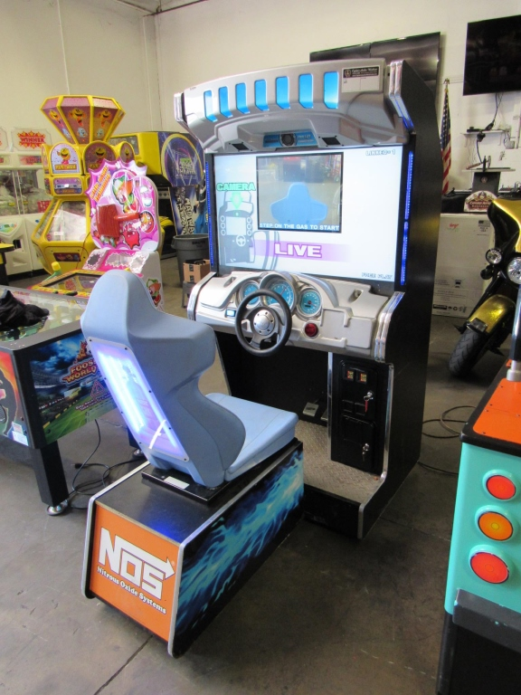 "Lot 173 - DEAD HEAT 42"" DELUXE RACING ARCADE GAME NAMCO"