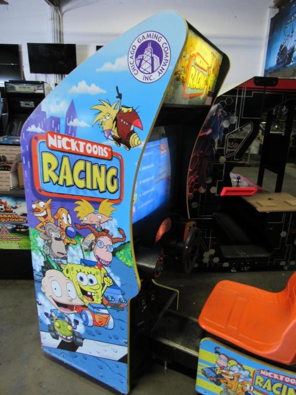 Lot 169 - NICKTOONS RACING SITDOWN ARCADE GAME