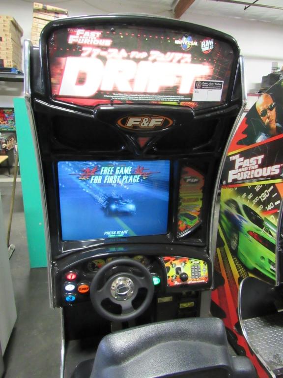 Lot 166 - DRIFT FAST & FURIOUS SITDOWN RACING ARCADE GAME #1