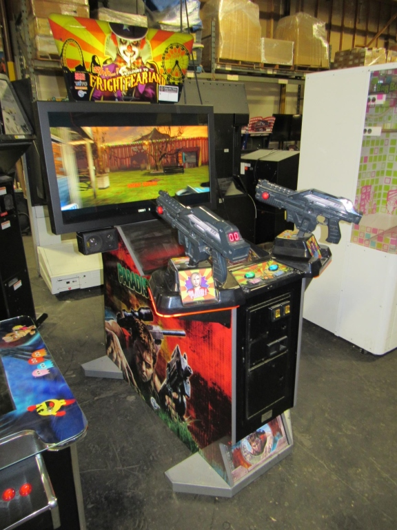 "Lot 163 - FRIGHT FEARLAND 42"" LCD FIXED GUN ARCADE GAME"