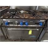 Castle 4-Burner LP Heavy Duty Range w/Oven