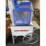 Gold Medal Sno King Ice Shaver Mod. 1888 Sno Kone Machine w/Cart & Crate