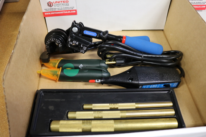 Lot 98 - LOT - MAHEW DRIFT PUNCHES, IDEAL ELECTRIC MARKER ENGRAVER, IMPERIAL 470FH TUBING BENDER, (2)