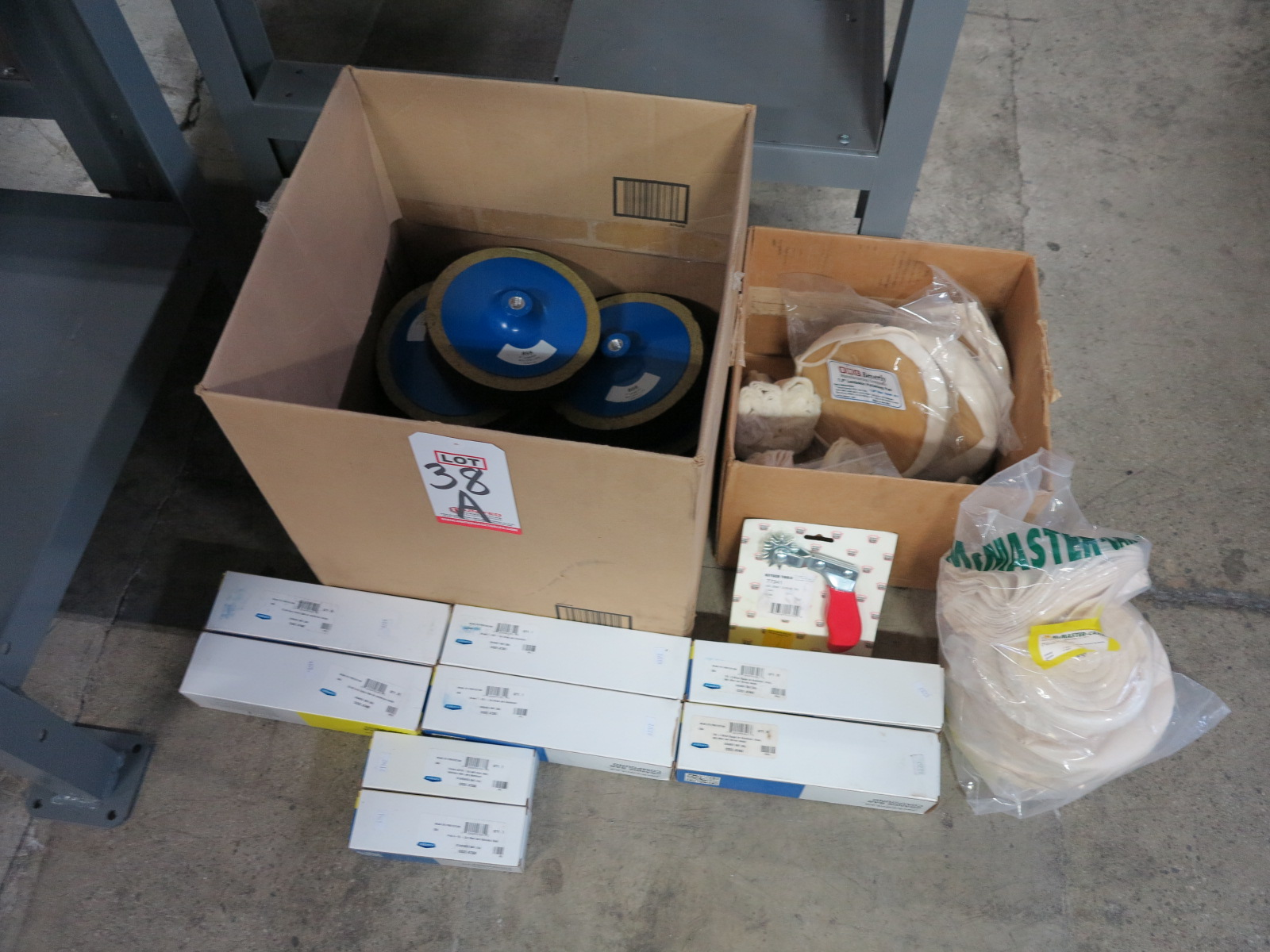 Lot 38A - LOT - LARGE LOT OF NEW/UNUSED BUFFING SUPPLIES: (6) 3 LB BARS OF BUFFING COMPOUND FOR ALUMINUM,