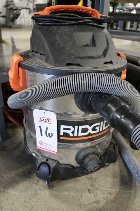 Lot 16 - RIDGID 10 GALLON SHOP VAC, MODEL WD10600