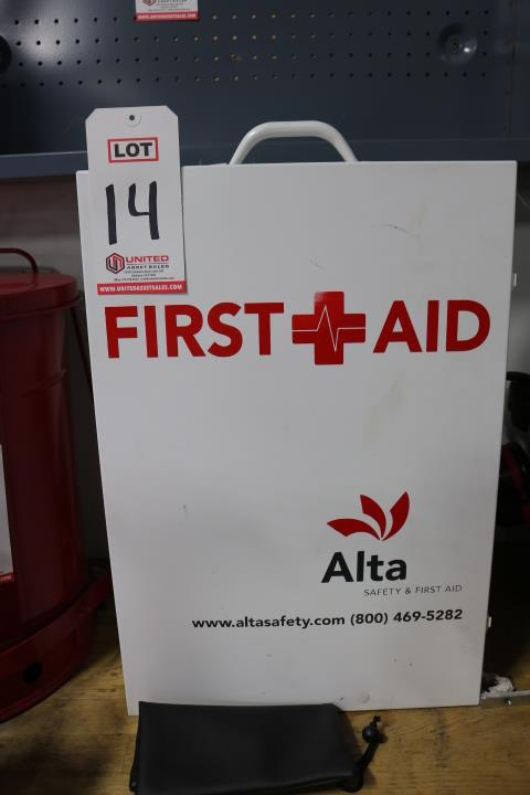 Lot 14 - ALTA FIRST AID KIT, HANGS ON WALL, STOCKED