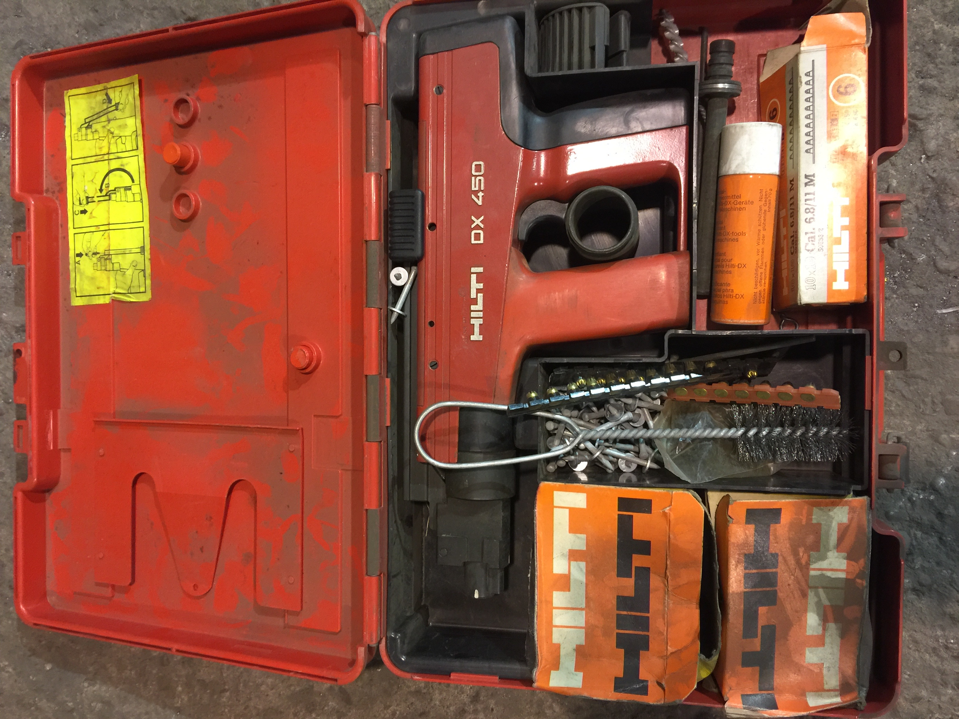 Lot 49 - Cased Hilti DX450 (Burton-upon-Trent)