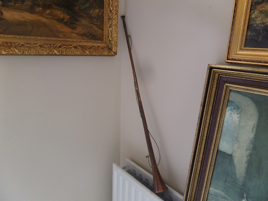 Lot 27A - OLD BRASS HUNTING HORN