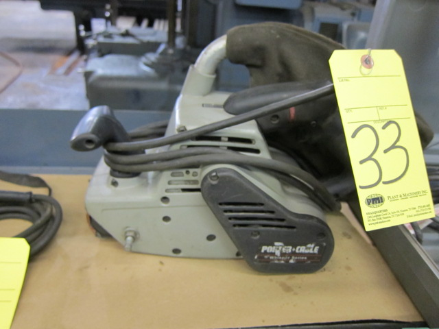 Lot 33 - BELT SANDER, PORTER CABLE 4""