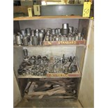 Lot 50 - LOT OF SOCKETS & WRENCHES, w/cabinet
