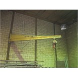 Lot 620 - COLUMN MOUNTED JIB CRANE, w/elec. chain hoist