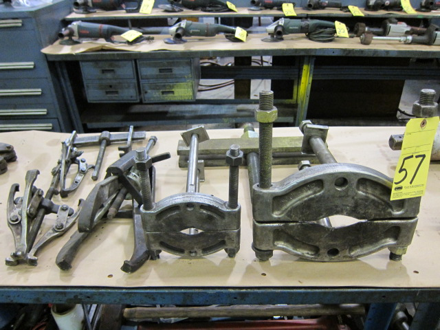 Lot 57 - LOT OF WHEEL PULLERS, assorted
