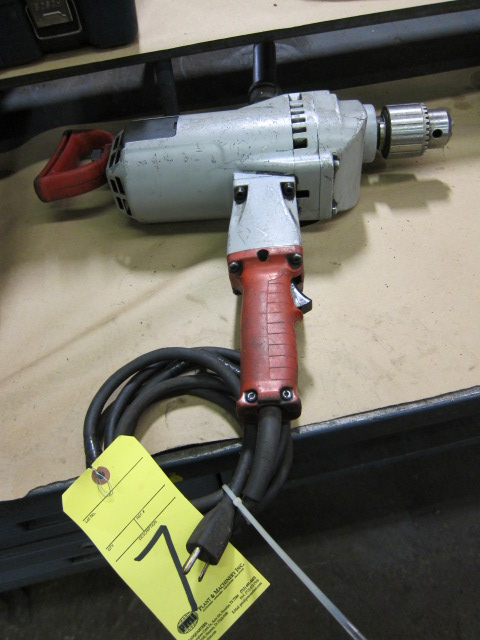 "Lot 7 - ELECTRIC DRILL, MILWAUKEE 3/4"", H.D."