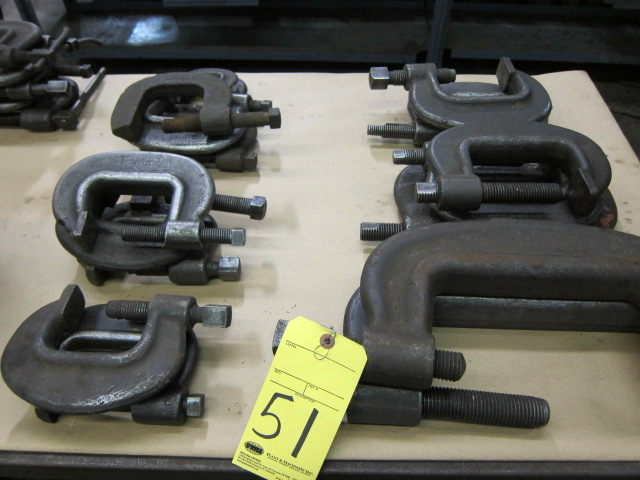 Lot 51 - LOT OF C-CLAMPS (17), H.D., assorted