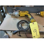 Lot 9 - ELECTRIC DRILL, DEWALT 1/2""