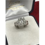 4.65ct DIAMOND SOLITAIRE RING SET IN WHITE GOLD 14k
