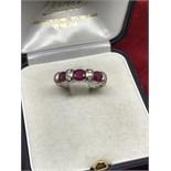 14ct GOLD PINK SAPPHIRE & DIAMOND RING