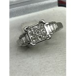 14ct WHITE GOLD DIAMOND RING APPROX 1.00ct