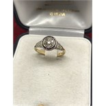 UNUSUAL VINTAGE 18ct & PLATINUM DIAMOND SET RING