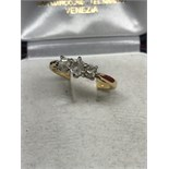 18ct GOLD & PLAT 3 STONE DIAMOND RING 0.70ct