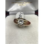 GENTS 1.07ct SOLITAIRE 18ct GOLD RING