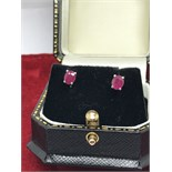 14ct GOLD PINK SAPPHIRE EARRINGS