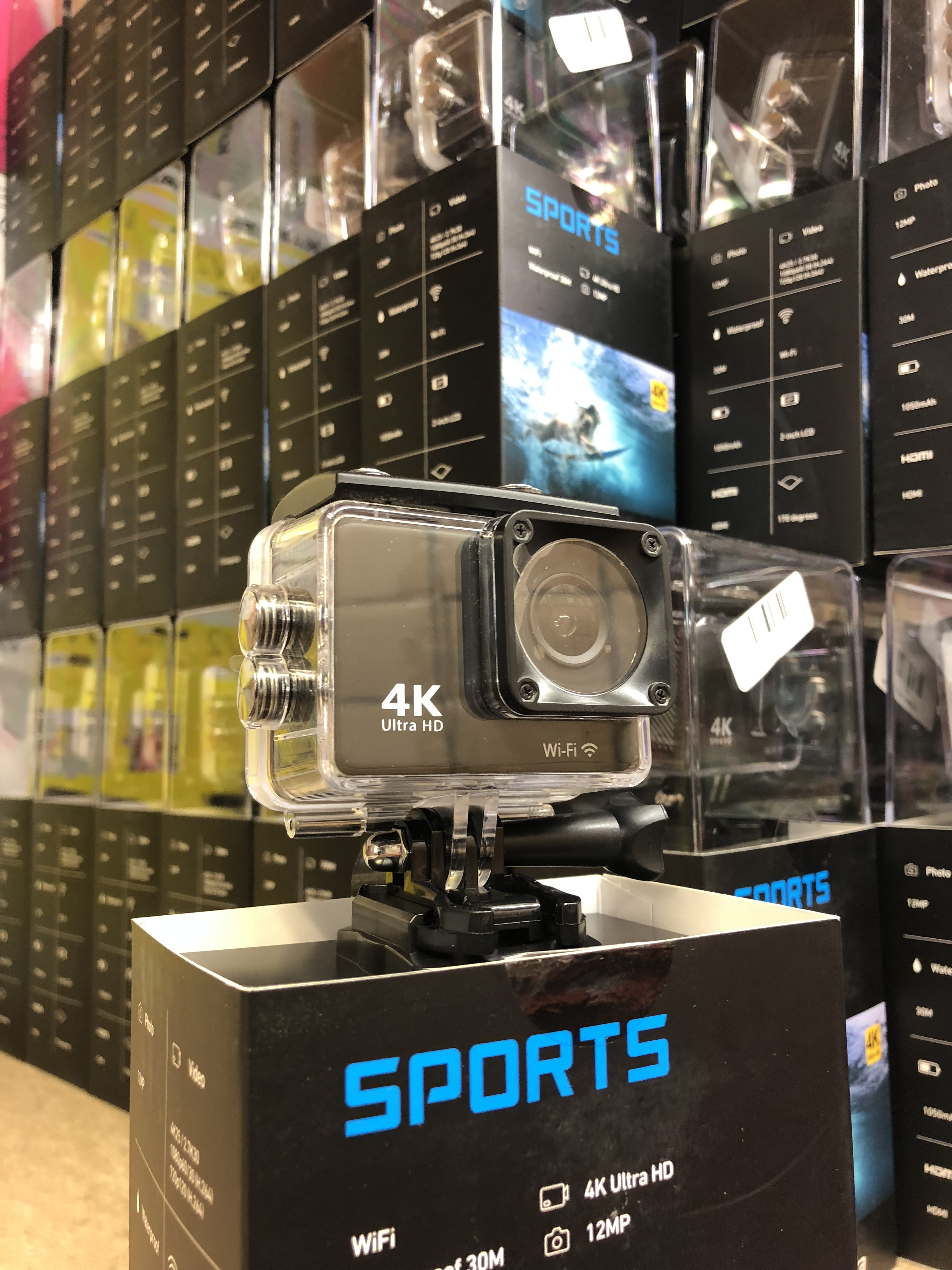 Lot 15960 - Brand New Full Ultra HD 4K Waterproof WiFi Action Camera With Audio - Box And Accessories - 30m